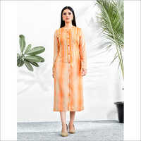 Digital Print With Resham Work Kurti