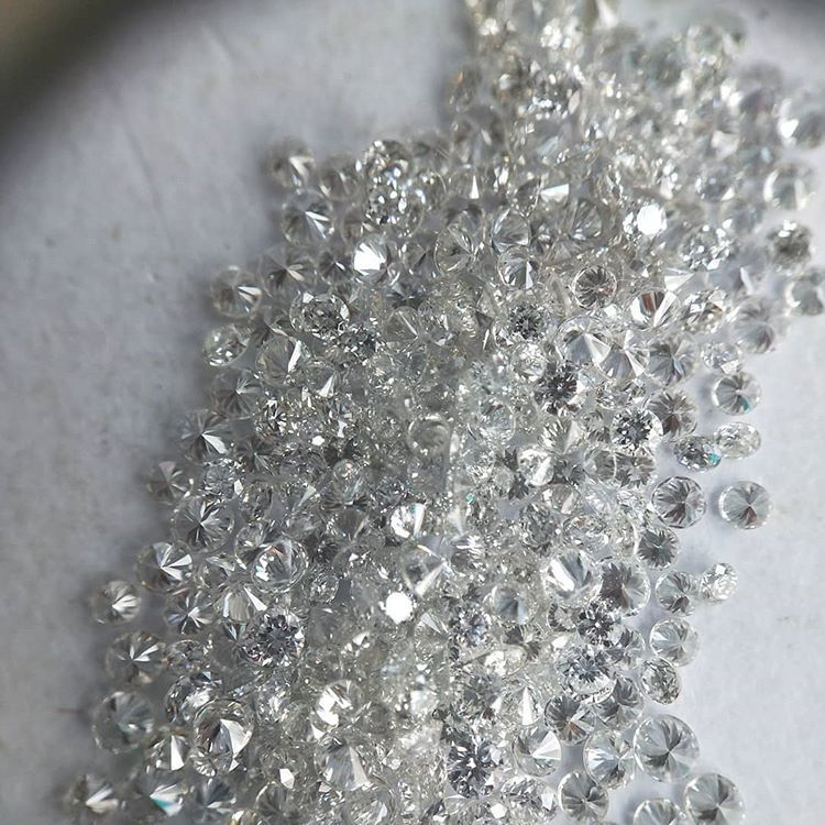 Cvd Diamond 2.30mm GHI VVS VS Round Brilliant Cut Lab Grown HPHT Loose Stones TCW 1