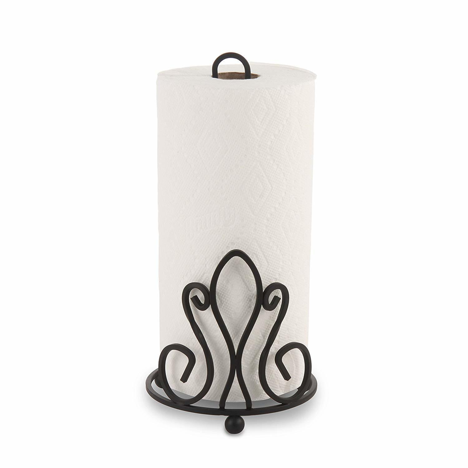 Wrought Iron Tissue Roll/Paper Towel Holder for Kitchen and Dining Table