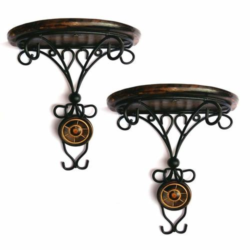 Combo/Pair of Wooden Wall Bracket Wall Hanging Dã©Cor for Living Room Drawing Room Office