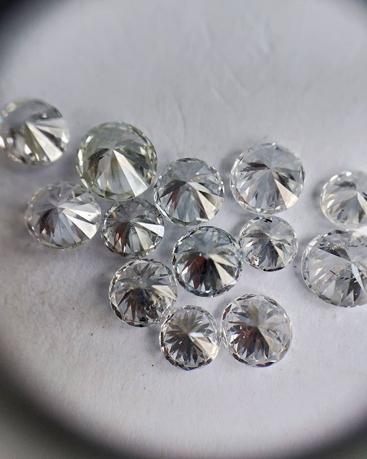 Cvd Diamond  2.80mm GHI VVS VS Round Brilliant Cut Lab Grown HPHT Loose Stones TCW 1