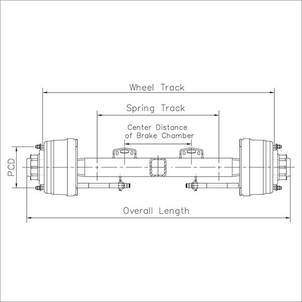 HOV Trailer Axle