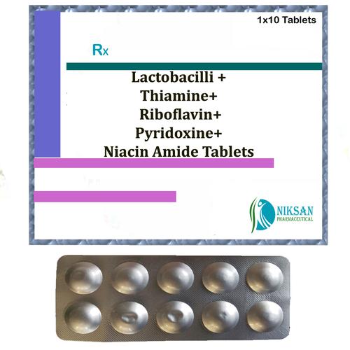 Lactobacilli Thiamine Riboflavin Pyridoxine Niacin Tablets
