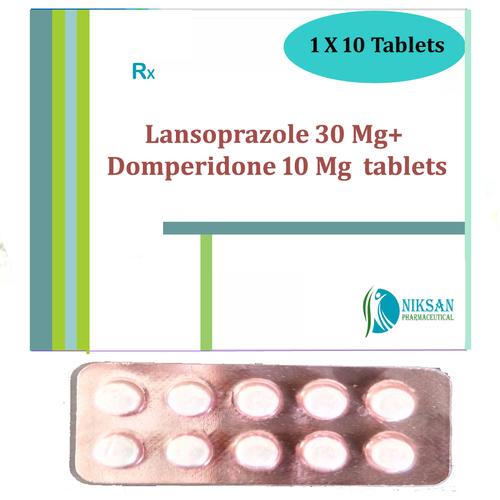 Lansoprazole 30 Mg Domperidone 10 Mg Tablets
