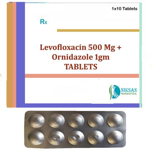 Levofloxacin 500 Mg Ornidazole 1Gm Tablets