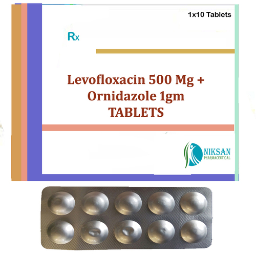 Levofloxacin 500 Mg Ornidazole 1Gm Tablets