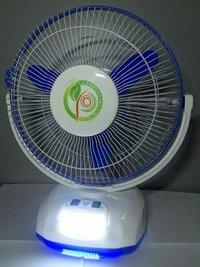 table fan with inbuilt battery or led lights