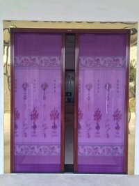 Aluminum mosquito mesh doors