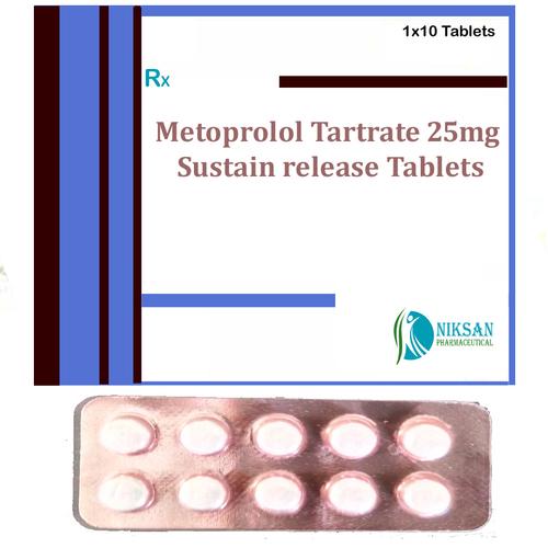 Metoprolol Tartrate 25Mg Sustain Release Tablets