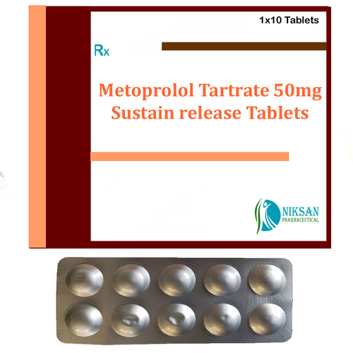 Metoprolol Tartrate 50 Mg Sustain Release Tablets
