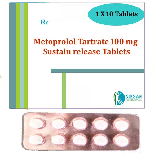 Metoprolol Tartrate 100 Mg Sustain Release Tablets