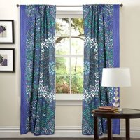 Indian Mandala Bluestar Ombre Hippie Bohemian Curtain