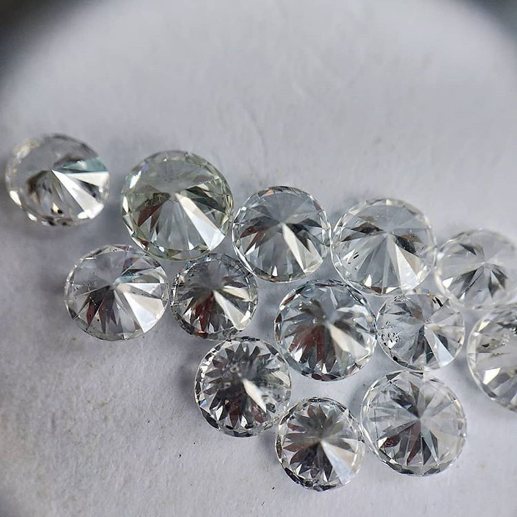 Cvd Diamond 3.40mm GHI VVS VS Round Brilliant Cut Lab Grown HPHT Loose Stones TCW 1