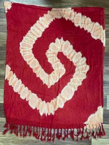 Descharge Satin Fabric Stole