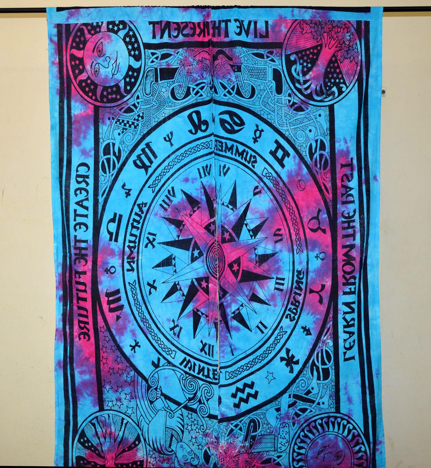 Indian Mandala Celtic COmpass Ombre Hippie Bohemian Curtain