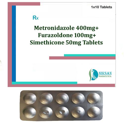 Metronidazole 400mg Furazoldone Simethicone Tablets