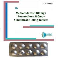 Metronidazole 400mg Furazolidone Simethicone Tablets