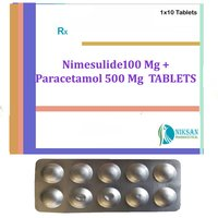 Nimesulide 100 Mg Paracetamol 500 Mg Tablets