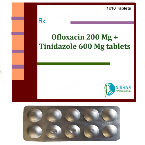 OFLOXACIN 200 MG TINIDAZOLE 600 MG TABLETS