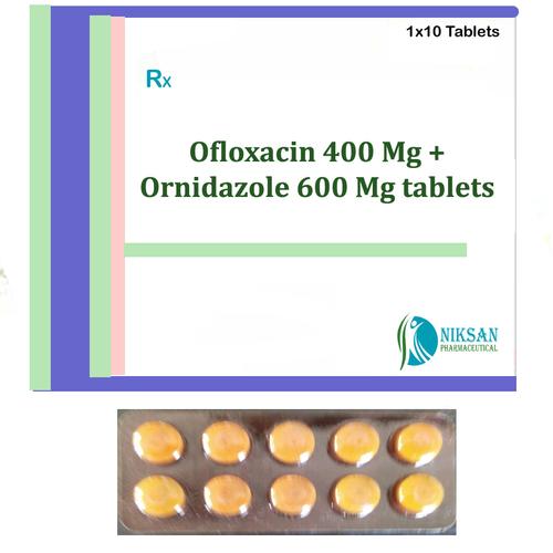 OFLOXACIN 400 MG ORNIDAZOLE 600 MG TABLETS