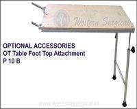 OT TABLE FOOT TOP ATTACHMENT