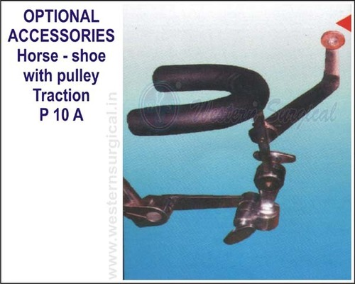 Horse - shoe with pulley Traction