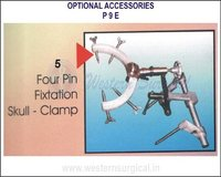 Four pin fixtation skull - clamp