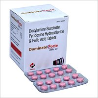 Doxylamine Succinate Pyridoxine Hydrochloride And Folic Acid Tablet