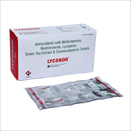 Antioxidants With Multivitamins Multiminerals Lycopene Green Tea Extract And Cyanocobalamin Tablet
