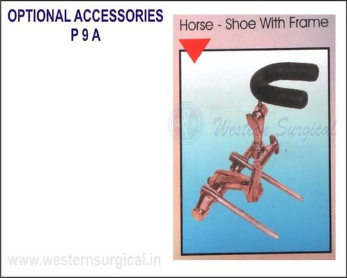 Horse - shoe with frame