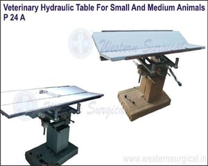 VETERINARY HYDRAULIC TABLE FOR SMALL AND MEDIUM ANIMALS