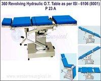 360 REVOLVING HYDRAULIC O.T. TABLE