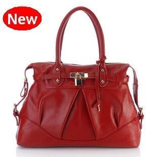 Ladies Red Leather Bag