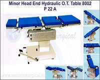 MINOR HEAD END CONTROL HYDRAULIC O.T. TABLE