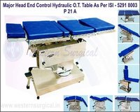 MAJOR HEAD END CONTROL HYDRAULIC O.T. TABLE