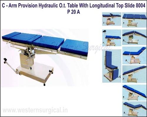 C - ARM PROVISION HYDRAULIC O.T. TABLE WITH LONGITUDINAL TOP SLIDE