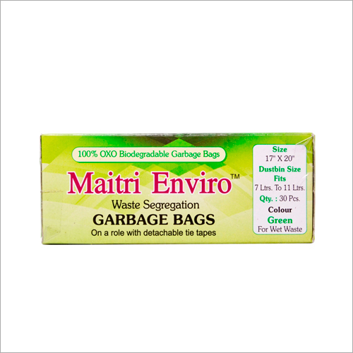 17x20 Inch Green Garbage Bag