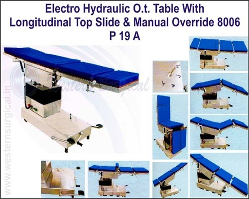 Electro Hydraulic O.T. Table with Longitudinal Top Slide & Manual Override