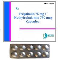 Pregabalin 75 Mg Methylcobalamin 750 Mcg Tablets