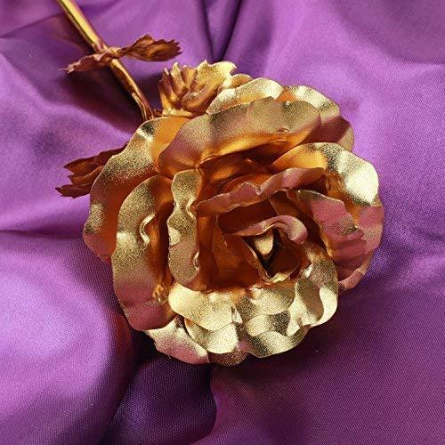 Women Gifts, Gold Rose Flower Present 24K Golden Foil with Luxury Gift Box Great Gift Idea for Valentine's Day, Mother's Day, Thanksgiving Day, Christmas, Birthday, Anniversary