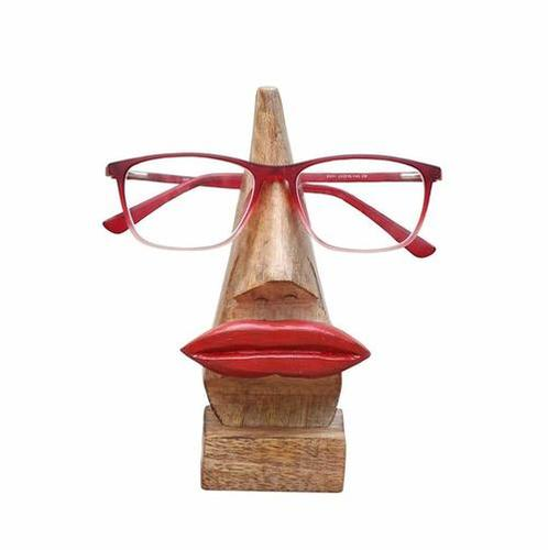 Specs Spectacle Holder Stand - Decorative Handmade Wooden Nose Shaped Eyeglass Stand
