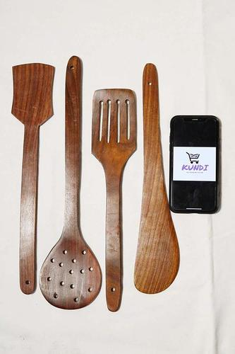 Wooden Spatula and Laddle Set of 4