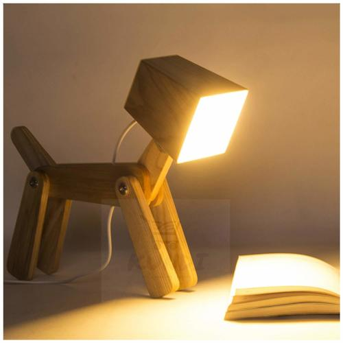 LED Table lamp Modern Cute Dog Study Lamp for Children White Light