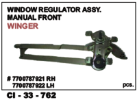 Window Regulator Assy Manual Front