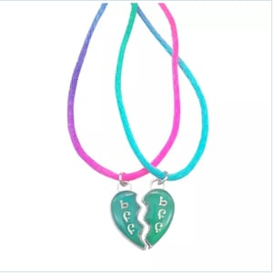 Mood and broken heart necklace