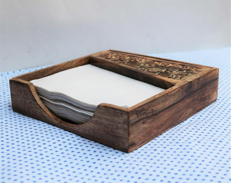 Wooden Napkin Holder for Dining Table, Tissue Paper Stand | Restaurant