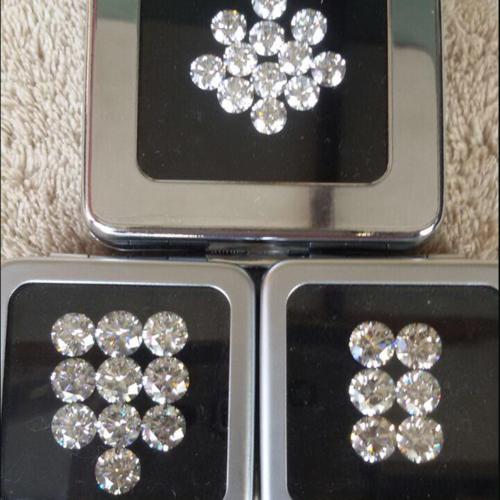 Cvd Diamond 2.10mm GHI VS SI Round Brilliant Cut Lab Grown HPHT Loose Stones TCW 1