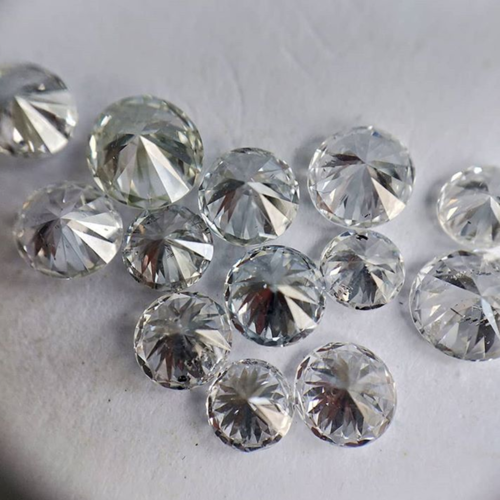 Cvd Diamond 2.20mm GHI VS SI Round Brilliant Cut Lab Grown HPHT Loose Stones TCW 1