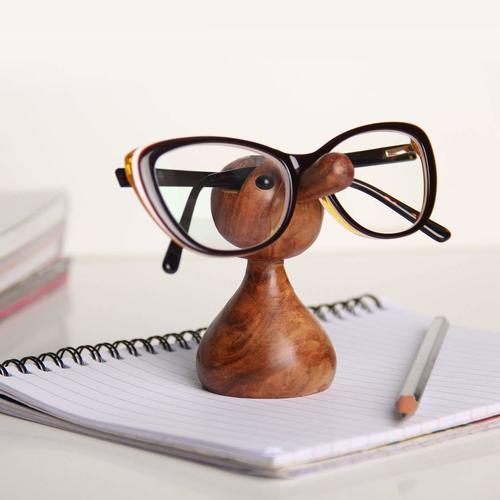 Wooden Nose Shaped Spectacle Specs/Sunglass/Eyeglass Holder Stand