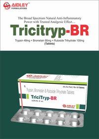Trypsin 48mg + Bromelain 90mg + Rutoside Trihydrate 100mg